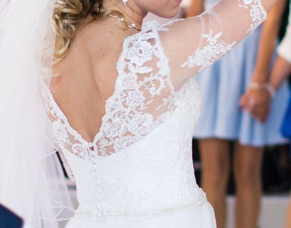 Suknia ślubna M koronka tiul koło śliczna.
