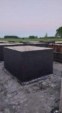 Zbiornik betonowy wodę szambo betonowe, kanał samochodowy piwniczka