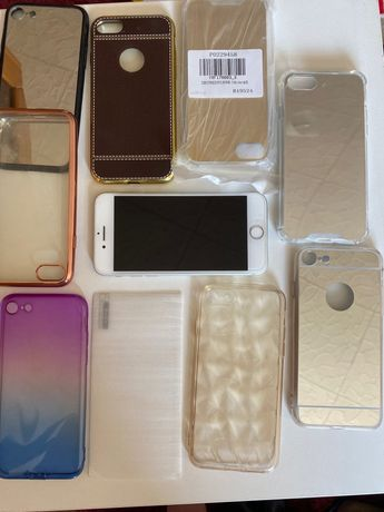 Iphone 7+kilka etui+ szkło hartowane