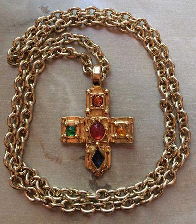 Винтажная оригинальная цепочка с крестом Guy Laroche Paris