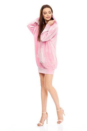 NOWA Sukienka Bluza Mabel w kolorze różowym welurowa Sugarfree Roz S
