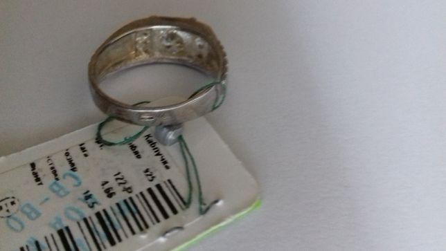 Перстень серебро 925 (кольцо, каблучка, печатка) размер 18,5