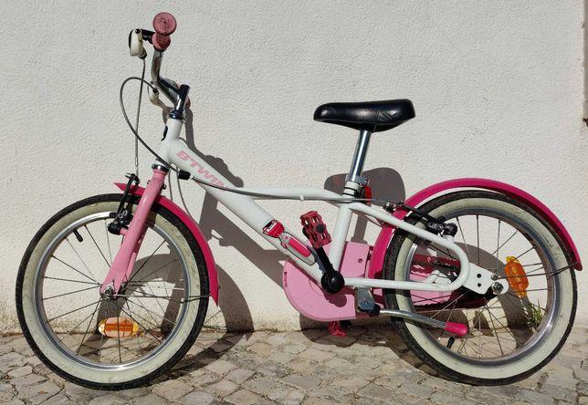 """Bicicleta BTWIN 500 menina / criança DOCTO 16"""" 4,5-6 ANOS"""