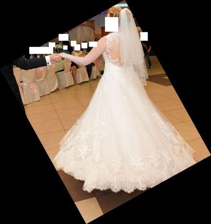 Przepiękna, zjawiskowa, śnieżnobiała suknia ślubna, Ciechocinek, Toruń