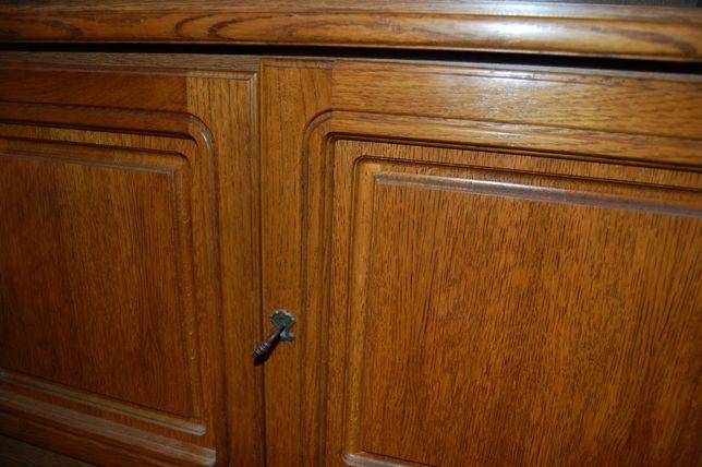 Komoda- dąb, drewniane drzwiczki
