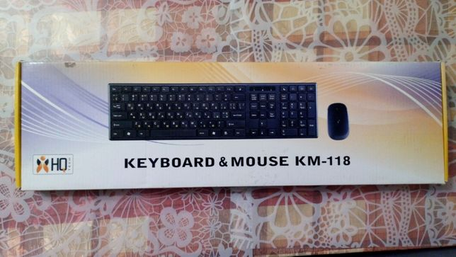 Nowy Zestaw klawiatura/mysz HQ-Tech KM-118 USB ukr/rus/eng + PREZENT