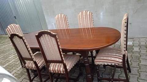 Stół owalny+6 krzeseł z Belgii w super stanie