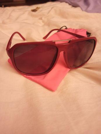 Okulary przeciwsłoneczne czerwone plastik