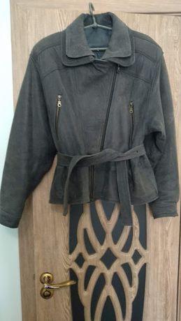Куртка женская замшевая серая