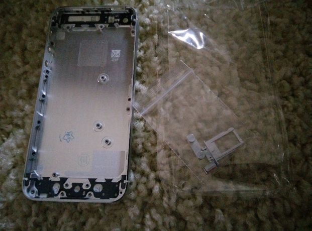 Carcaça (nova) traseira de alumínio para Iphone 5 (branco)