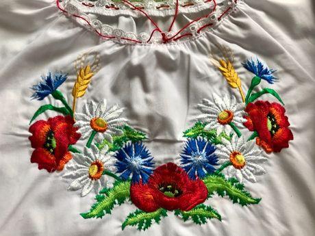 Bluzka góralska z haftem folk dla dziewczynki 10-12 lat