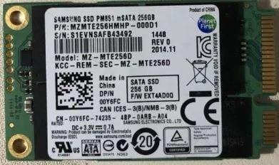 SSD накопитель mSATA 256GB SAMSUNG