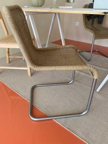 cadeiras vintage design com sisal / palhinha