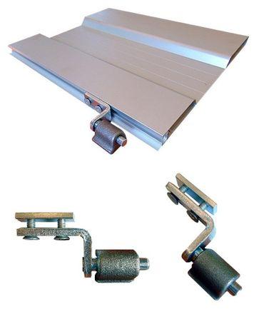 Zawias burty aluminiowej fi 12 - komplet do wspawania