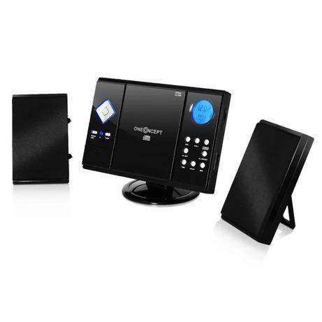 V-12 Mini Wieża MP3-CD-Player USB SD AUX, czarna