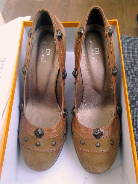 Туфли кожанные на каблуке 10 см