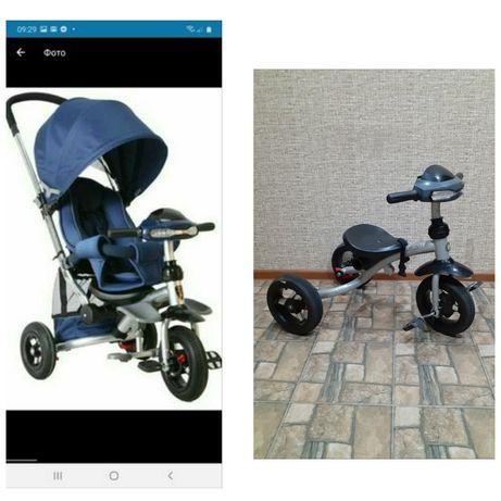 Велосипед каляска Azimut crosser T-350 коляска для девочки мальчика пр