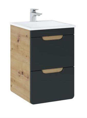 podwieszana szafka z umywalką 40 cm