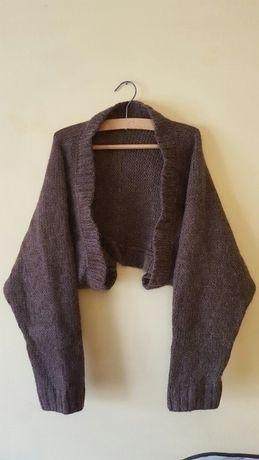 bolerko włochacz włochate sweter sweterek narzutka m 38 zara