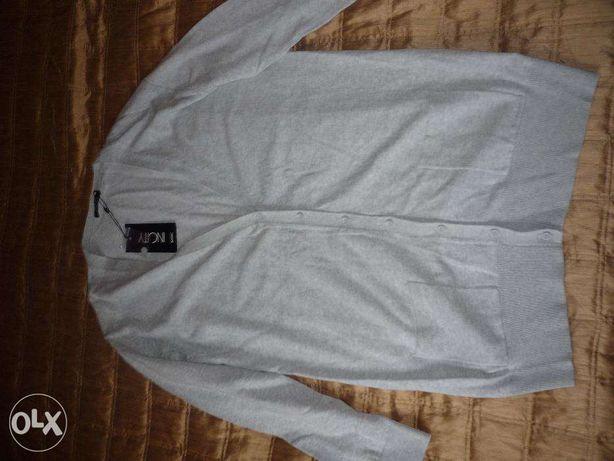 продам жакет кардиган женский светло-серый меланж размер 48