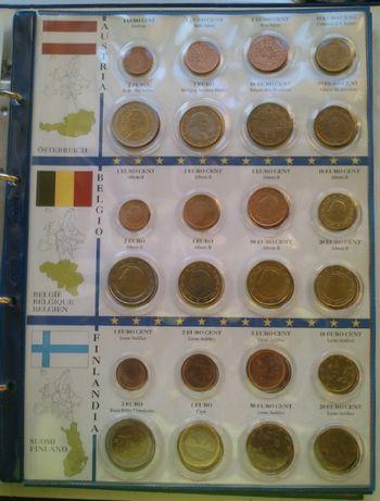 monety-EURO z lat 99-02 r album 12 państw