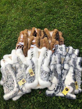 Зимняя детская жилетка из овчины