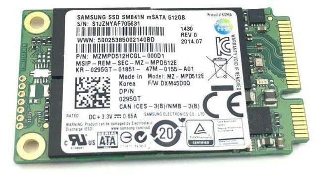 SSD накопитель mSATA 512GB SAMSUNG