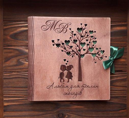 Фотоальбом из дерева с вашими именами!
