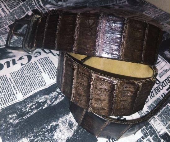 Ремень крокодил solid brass