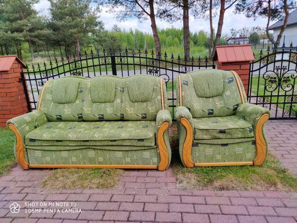 Meble wypoczynkowe łóżko+fotel