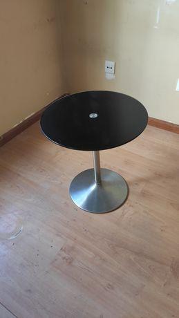 Mesa redonda vidro preto