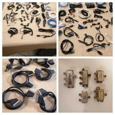Conjunto de vários cabos tudo