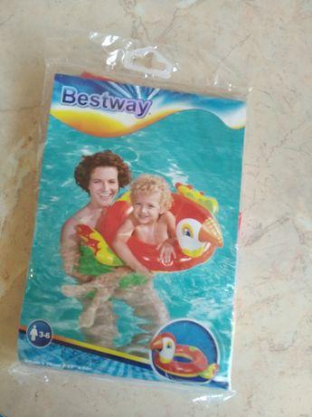 Koło do pływania dla dzieci w kształcie papugi