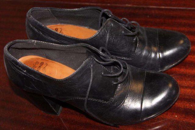 Ботинки женские короткие WAGABOND, кожаные, черного цвета