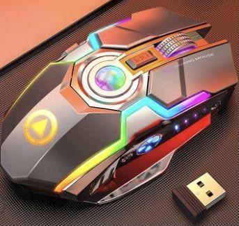 бесшумная игровая беспроводная bluetooth мышь RGB