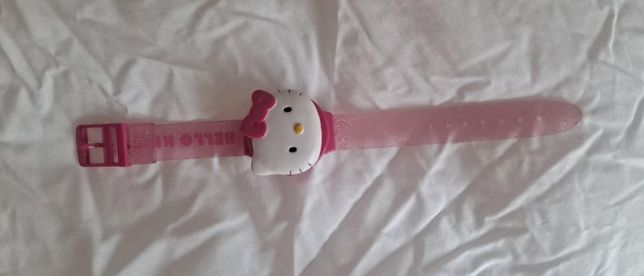 Relógio Criança Hello Kitty Cor de Rosa Sawrio