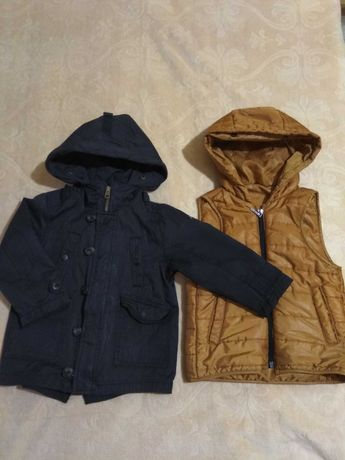 Куртка и жилетка детская Zara,  размер 98-110