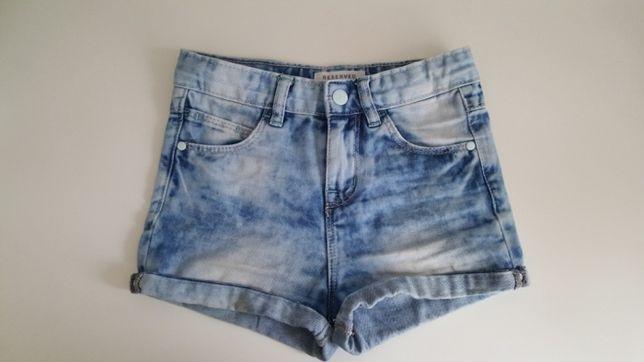 Szorty jeansowe RESERVED 116 dżinsowe któtkie spodenki niebieskie