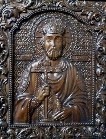 Резная икона Святой Владимир