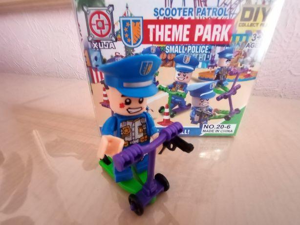 Лего конструктор, пазлы, лега полицейский Цена 30гр Новая
