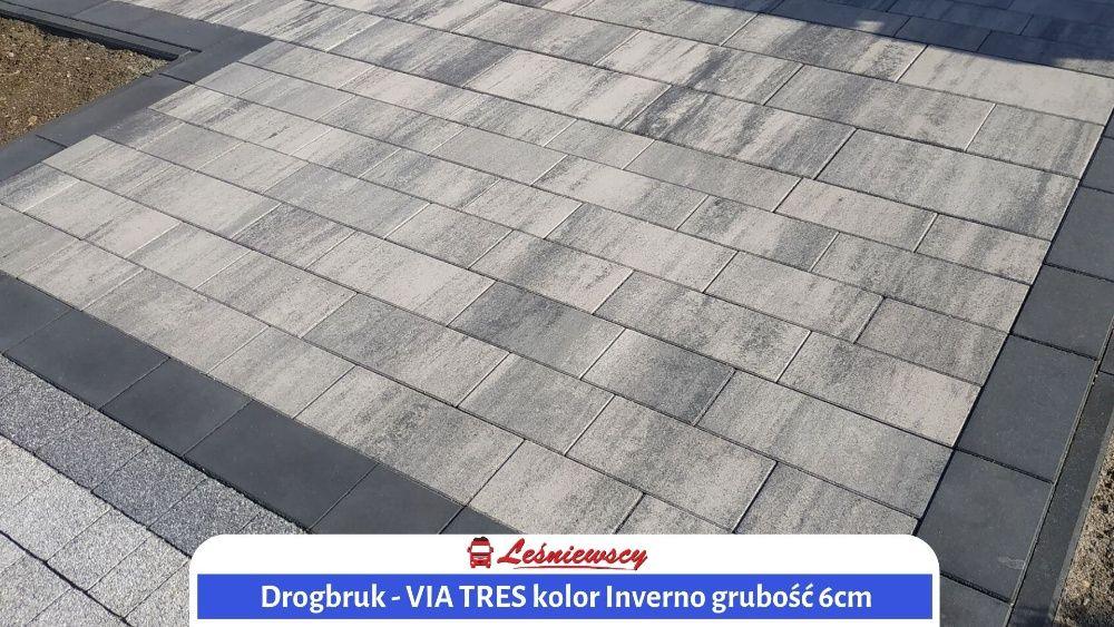 Drogbruk-VIA TRES Kostka brukowa na podjazd/taras/schody PROJEKT KOSTK