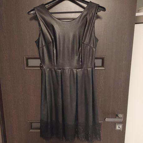 Sukienka skóra koronka sylwester studniówka