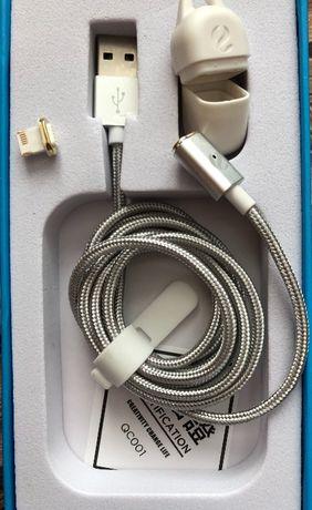 Кабель ZTE зарядка шнур на магните Lightning iPhone  5/6/7/8/9/Х iPad