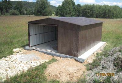 Garaż blaszany Blaszak 3x5 ocynk/kolor na wymiar Producent