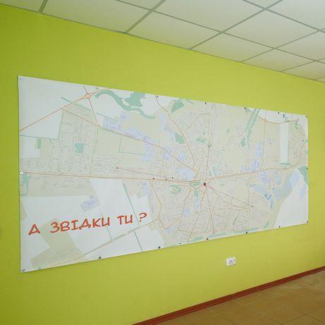 Карта міста Золотоноша (розмір: 3 х 1,5 м)