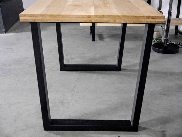 drewniany stół loftowy prowansalski stalowa podstawa drewno+metal