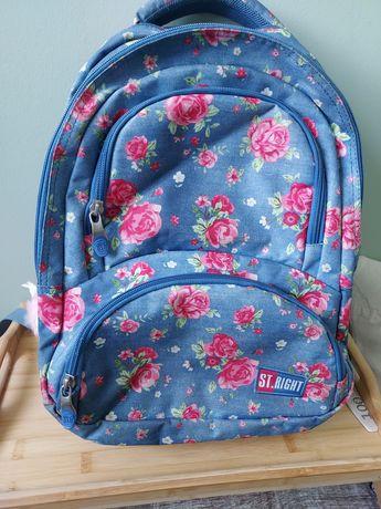 Szkolny plecak w kwiatki