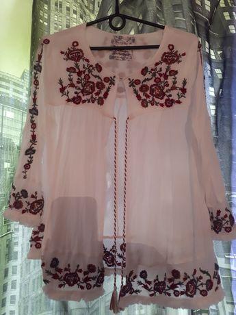 Блузка,рубашка вышивка 2 шт
