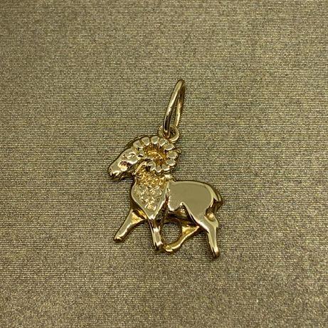 """Złota zawieszka znak zodiaku """"baran"""" 585"""