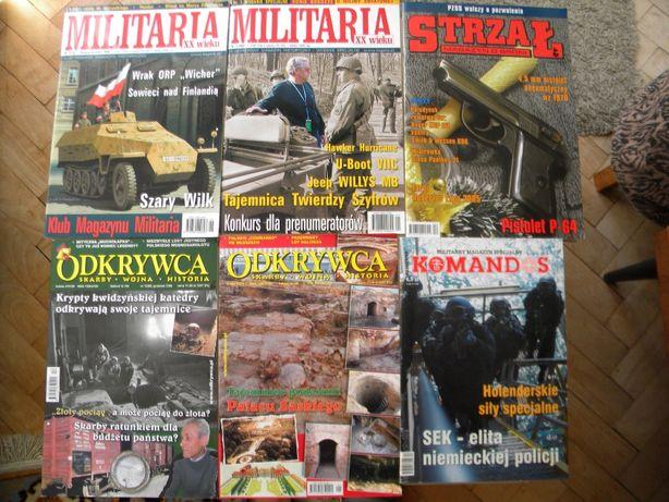 Odkrywca, Militaria, Strzał, Komandos. Czasopismo / magazyn